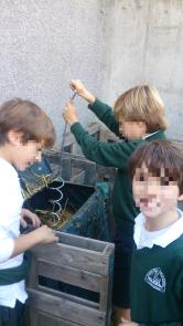 Aireando el compost SIL