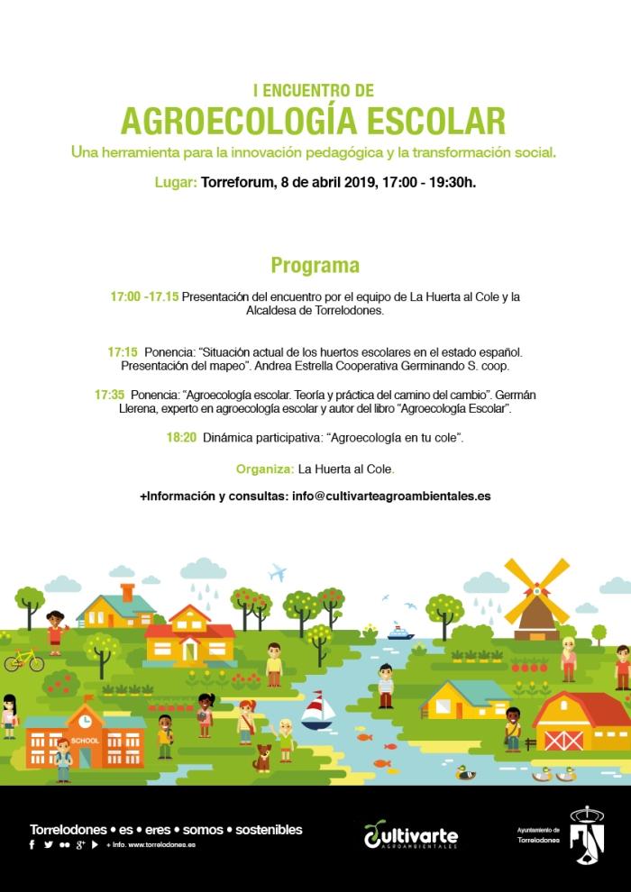Cartel Encuentro Agroecología Escolar Torrelodones