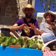 Eva y Óscar, l@s hortelan@s, en acción